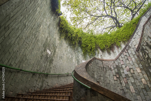 Fototapete traveling at Fort Canning Park in Singapore