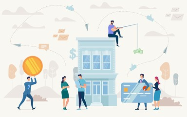 Loan on Business Purposes Flat Vector Concept