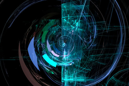 abstract digital fractal fantasy design background glowing