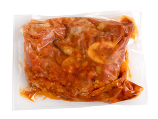 Vacuum packed meal of prepared ossobucco