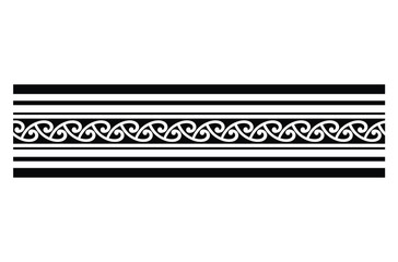tribal tattoo Polynesian ornament isolated on white background
