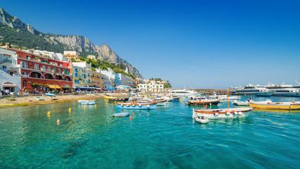 Beautiful Marina Grande, Capri Island, Italy. Wall mural