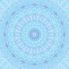 Fotobehang Fractal waves Christmas abstract background pattern snowflakes. Mirror Symmet