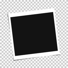 Retro realistic photo frame vector illustration. EPS 10
