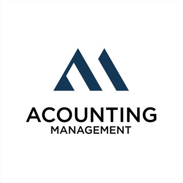 accounting management and letter AM logo ideas