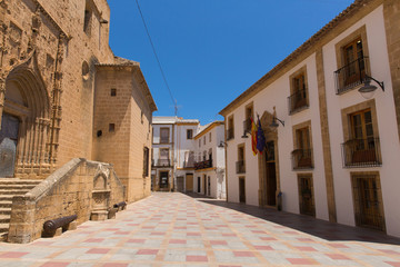 Xabia Spain view of historic buildings and streets in the old town