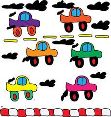 Print car vector vehicle transportation wallpaper