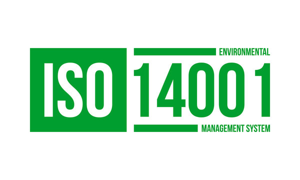 iso 14001 environmental management system, vector illustration isolated on white background