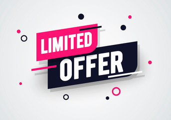Vector illustration special limited offer, sale banner and discount tag design