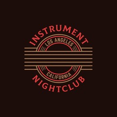 Music nightclub guitar seal logo design