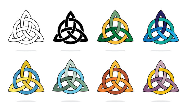 Three Pointed Triquetra or Trinity Knot Vector Illustration