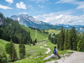 Wandern in den Berchtesgadener Alpen im Sommer