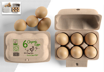 Egg Carton Packaging Design Mockup