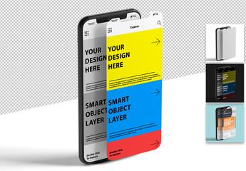 Mockup of 2 Smartphone Screen Designs