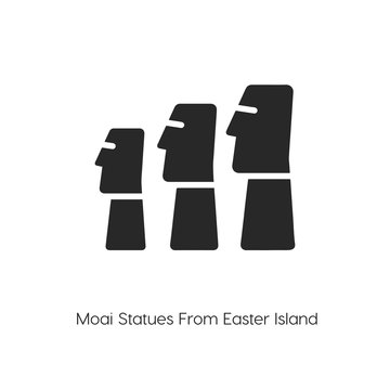 moai statues icon. moai statues vector symbol. Linear style sign for mobile concept and web design. v symbol illustration. Pixel vector graphics - Vector