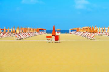 Beautiful beach of Viareggio, Italy