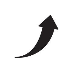 growth arrow vector icon