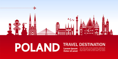 Fototapete - Poland travel destination vector illustration