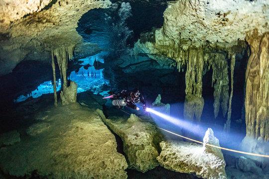 MEXICO diving cenote Dos Ojos