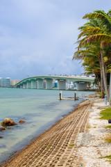 John Ringlng Bridge from Bird Key Park - Sarasota Florida