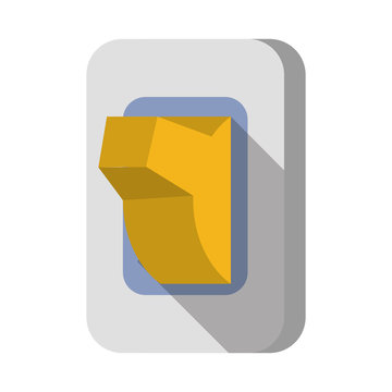 Light switch isolated cartoon symbol