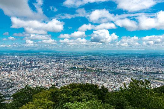 藻岩山から見た札幌市