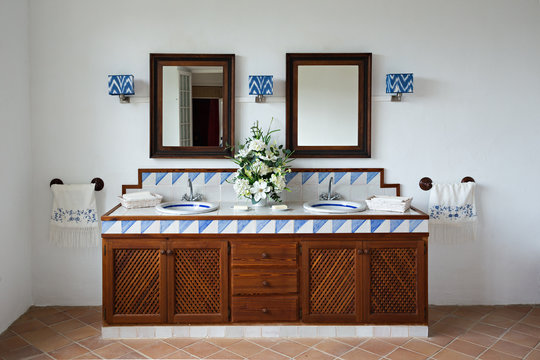 Bathroom in an old Spanish style