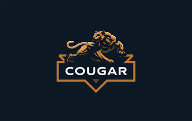 The image of a cougar or panther.