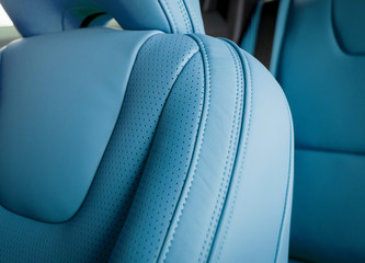 Part of  leather car seat details