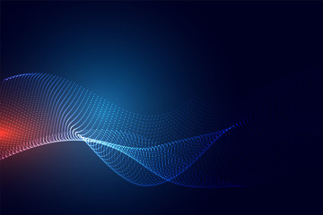 blue technology particle background design Wall mural