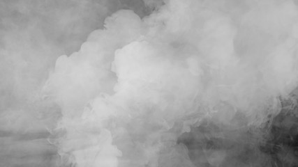 Wall Murals Smoke Abstract smoke steam moves on a black background . The concept of aromatherapy