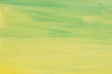 yellow and green background texture painted on artistic canvas