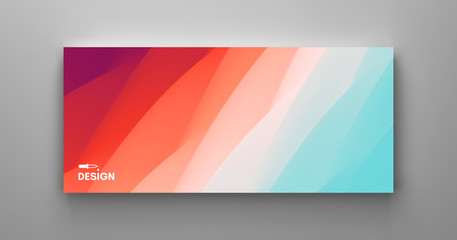 Cover design template with color gradients. Abstract background. Modern pattern. 3d vector Illustration for advertising, marketing, presentation. Wall mural