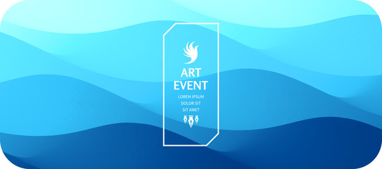 Wall Mural - Art event invitation template. Abstract background with dynamic effect. Vector illustration for promotions or presentations.
