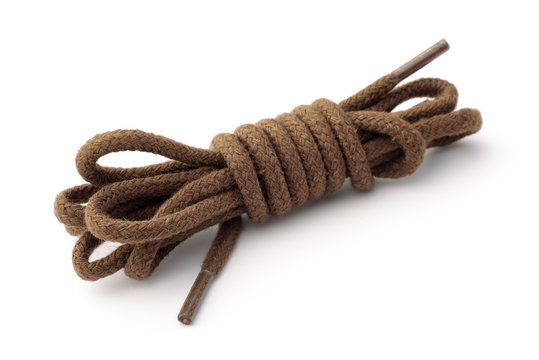 Cotton brown shoelaces