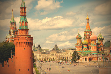 Moscow, Russia, Red square at summer day