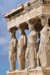 Keuken foto achterwand Athene Caryatid statues detail in Erechtheion, Parthenon temple, Acropolis hill