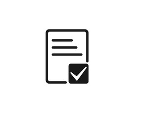 Document Approval icon vector