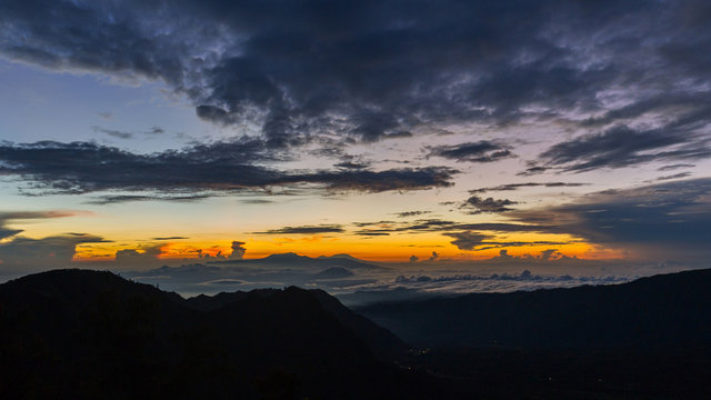 Beautiful sunrise in Bromo Tengger Semeru National Park