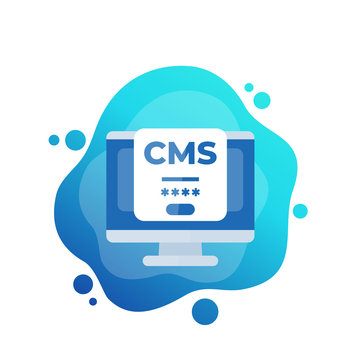CMS login icon, Content management system