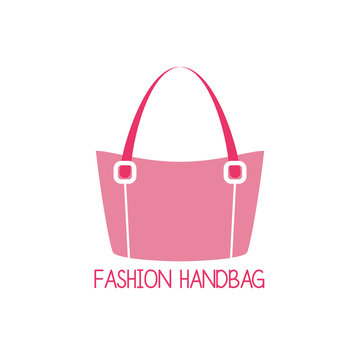 handbag logo on white background. vector illustration