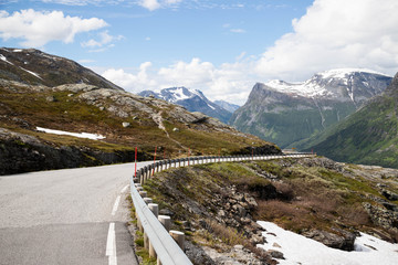 View from road in Geiranger, Norway