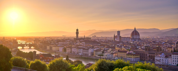 Photo Blinds Tuscany The sunset over Florence, capital of Italy's Tuscany region.