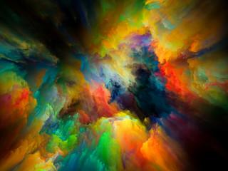 Color Swirl Fototapete