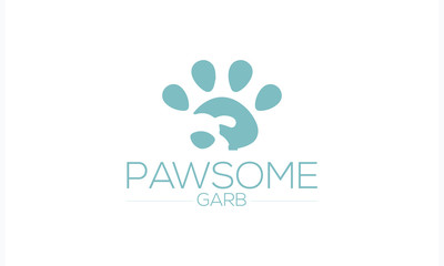 Dog logo.Design elements for logo, label, sign. Vector illustration