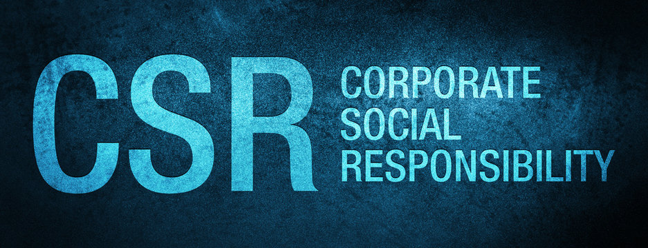 CSR Corporate Social Responsibility Special Blue Banner Background