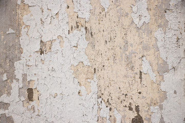 Papiers peints Vieux mur texturé sale White painted grunge wall rough texture
