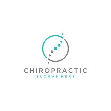 chiropractic symbol vector logo design