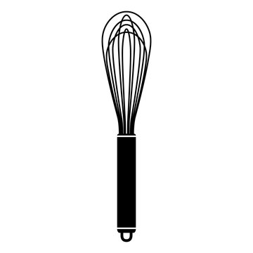 metal egg whisk beater vector graphic icon illustration