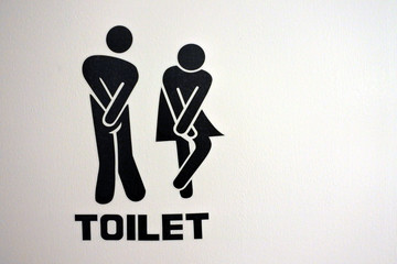 Urinary Urgency Toilet Sign for men and women